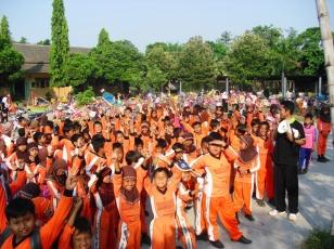 All Students in Orange Uniform