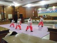 Penampilan Wushu di Pemkab