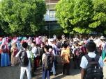 Anak-anak bersiap mengikuti pondok ramadhan